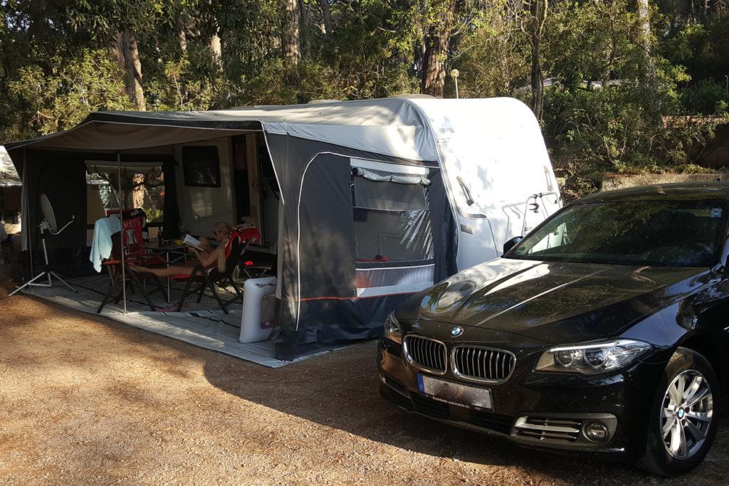 Stellplatz auf dem Camping Etruria