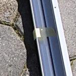 Detail Fixierung Plissee