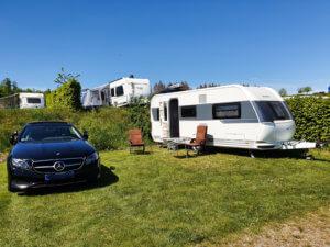 """Unser Stellplatz auf dem Campingplatz """"Camping Brilon"""" im Sauerland"""