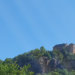 Blick auf Burg Nideggen vom Campingplatz Hetzingen in der Eifel