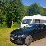 Unser Stellplatz auf dem Campingplatz Hetzingen