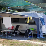 Unser Stellplatz auf dem Campingplatz Spiaggia Lunga bei Vieste am Gargano