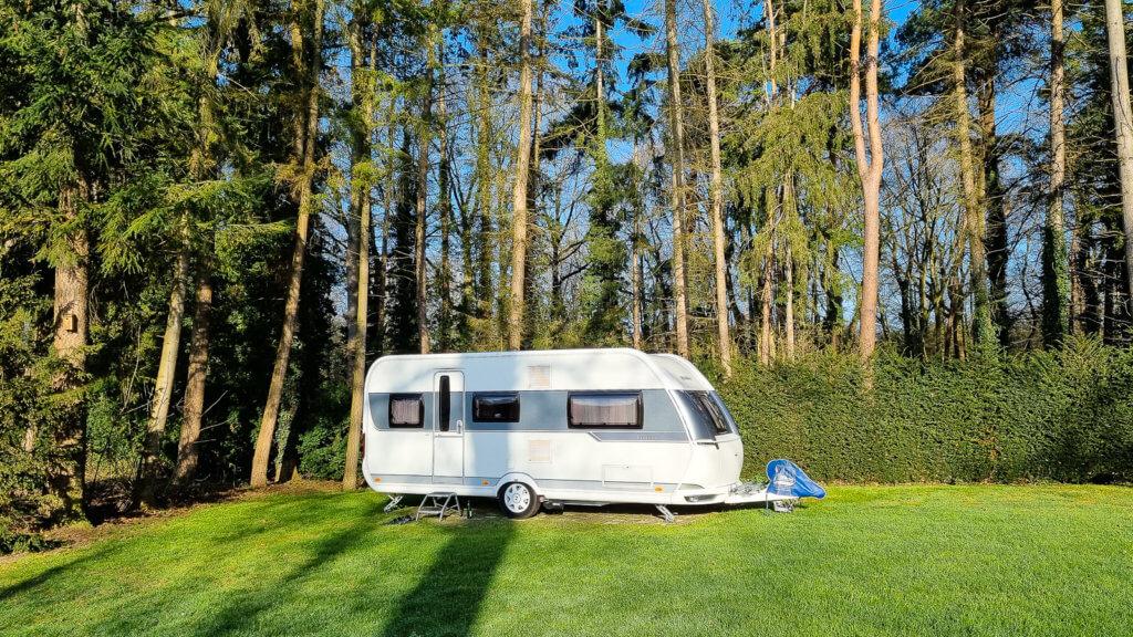 Unser Stellplatz auf dem Campingplatz 't Meulenbrugge in Vorden